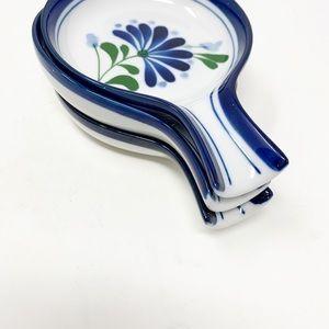 Vintage Dansk sage song spoon rest holder set of 3